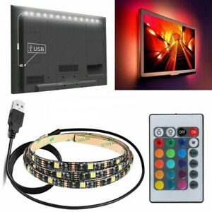 LED-Streifen-fuer-Fernseher-TV-LED-LCD-FLACHBILD-2-M-RGB-Leuchte-mit-USB-NEU-TOP