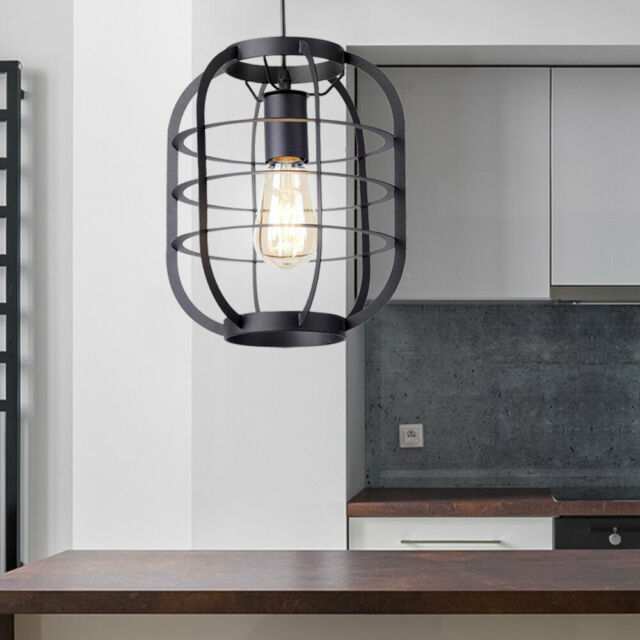 LED Decken Lampe Pendel Hänge Leuchte schwarz-gold Vintage Industrie-Stil Loft