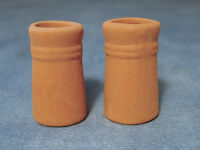 Two Small Round Chimney Pots, Miniatures Diy Fixture & Fittings Roof