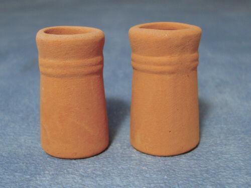 accesorio bricolaje miniaturas /& techo accesorios Dos botes pequeños de chimenea redonda