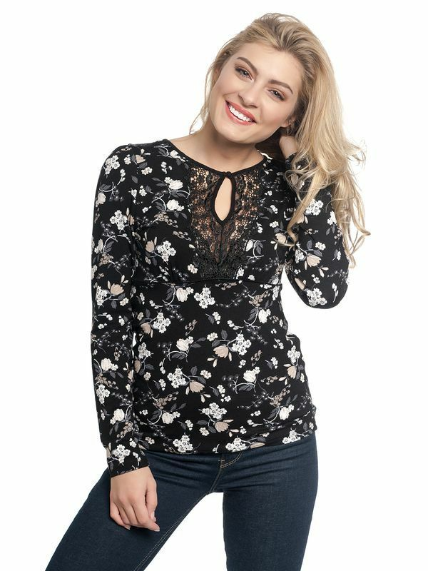 Vive Maria Maglietta Pizzo Fiori Nero Indocina Lace shirt nero all-over 347755