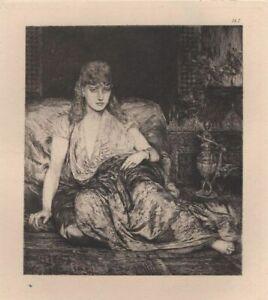 Fernand-Cormon-La-captive-eau-forte-Martinez-1873