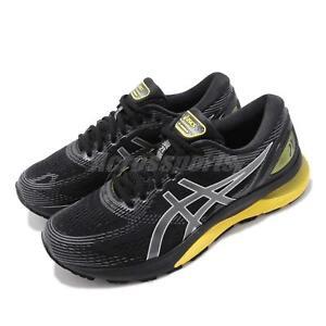 7b2b9a29525 Asics Gel Nimbus 21 2E Wide Black Lemon Spark Men Running Shoes ...