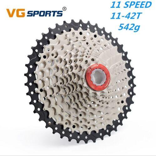 VG Sports 11 Speed Cassette 11-42T Mountain Bike Flywheel for Shimano SRAM 542g