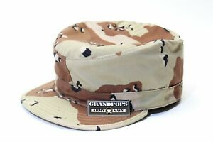 TIGER STRIPE PATROL CAP WITH MAP POCKET MADE IN USA