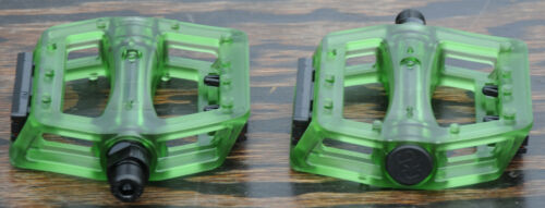"Green Iped Platform Bicycle Pedals 9//16/""  BMX MTB FiXiE Track Road Bike Cruiser"