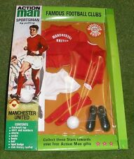 VINTAGE ACTION MAN 40th SPORTSMAN CARDED FOOTBALL CLUB MANCHESTER UNITED NEW