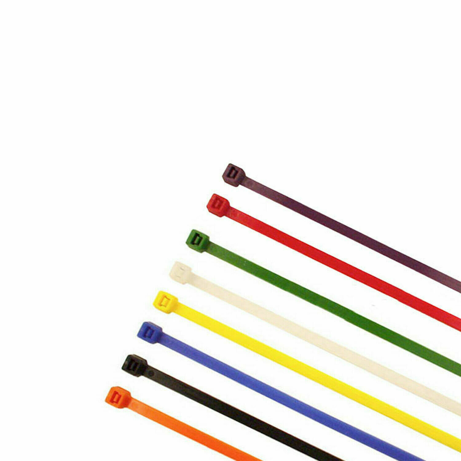 800x Multi Coloured Cable Ties (100 x 2.5mm)