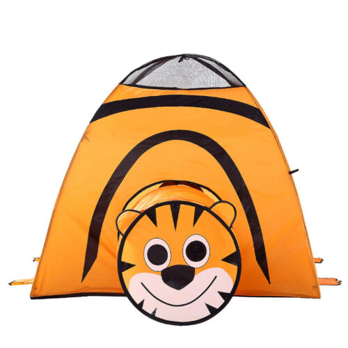 2-in-1 Tiger Themed Pop up Kids Play Tent with Tunnel for Kids Boys Girls