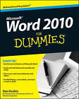 Word 2010 For Dummies by Dan Gookin (Paperback, 2010)