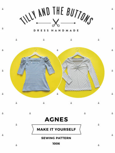 Womens IMPROVERS The Agnes Jersey Top UK SIZES 6-20 Ladies Sewing Pattern