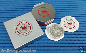 1994-Singapore-Mint-039-s-2-oz-Lunar-Year-of-the-Dog-10-Silver-Piedfort-Proof-Coin