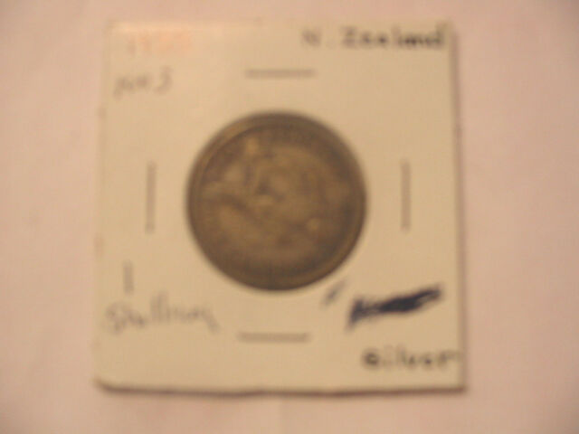 NEW ZEALAND 1933 1 ONE SHILLING SILVER COIN