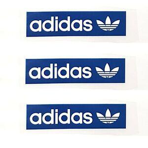 3 Logo Adidas Iron on T Shirt Vinyle Transfert Thermique Bleu Tag, Royaume-Uni vendeur