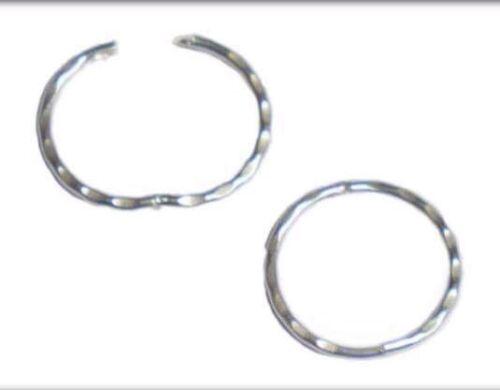 Sterling Silver 13mm Solid hinged Diamond cut Sleeper Earrings E R J Co