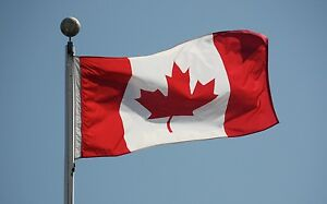 Canadian Flag 5' x 3' High Quality Nylon with 2 Metal Grommets Fast Shipping