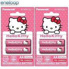 4x Panasonic Hello Kitty Eneloop 1900mAh AA Rechargeable Batteries 2100 Cycle TM