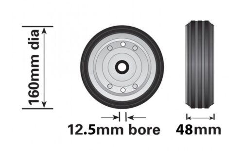 MAYPOLE GENUINE SPARE STEEL WHEEL FOR SMALL TELESCOPIC JOCKEY WHEEL 160MM MP429