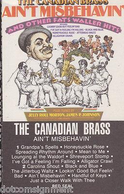 Ain't Misbehavin' Fats Waller Hits Canadian Brass Audio Music Cassette Tape