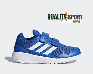 sports shoes 8085f dc26f La imagen se está cargando Adidas-Altarun-CF-K-Azzurro-Scarpe-Shoes-Bambino-