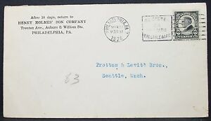 Holmes-039-Son-Company-US-ADV-Cover-Philadelphia-Harding-2c-1924-USA-Brief-Y-546