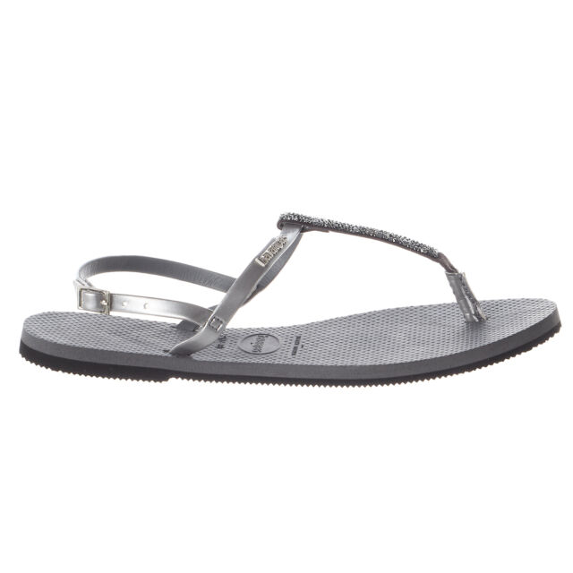 d4e022bc9fdba1 Havaianas Womens Sandals You Riviera Crystal Sandal Steel Grey Size ...