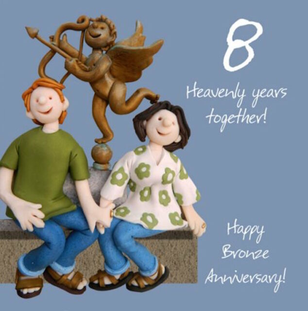 Eighth Wedding Anniversary Traditional Gift: 8th Wedding Anniversary Card By Holy Mackerel