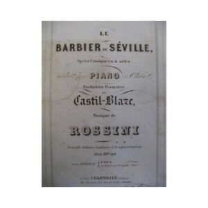 Details about ROSSINI Gioachino The Barber of Seville Opera ca1850  partition sheet music score
