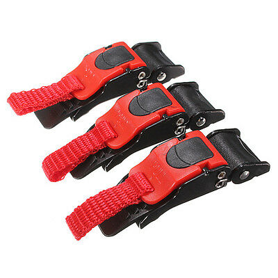 3x Plastic Quick Release Motorcycle Helmet Clip Chin Strap Pull Buckle Autocycle