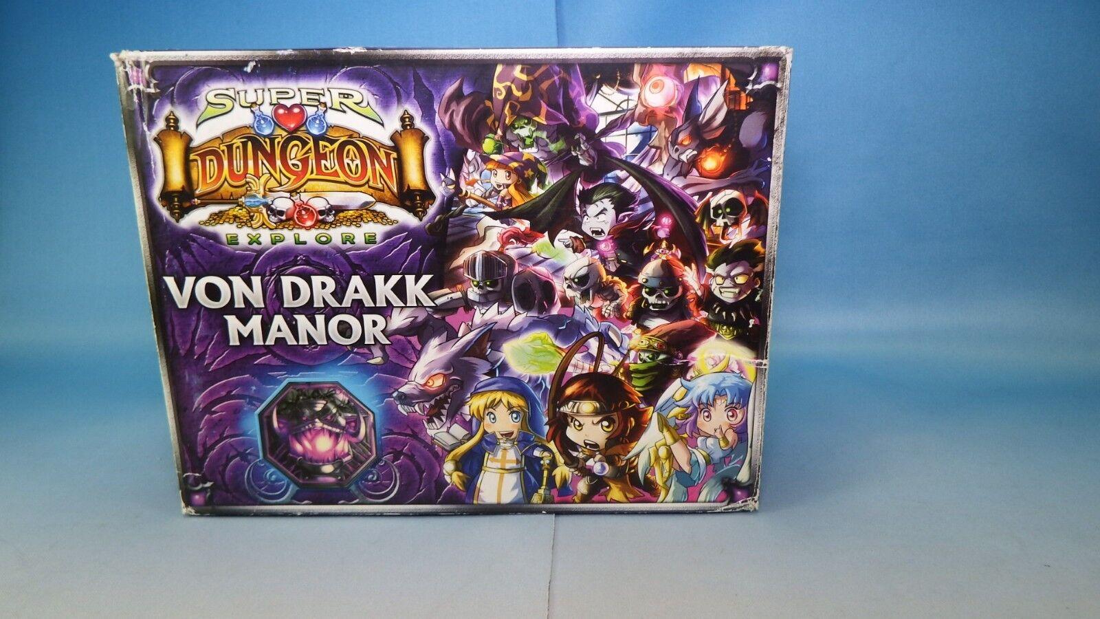 Super Dungeon Explore Von Drakk Manor w Extra Miniatures 1st 2nd Edition CGNT DM