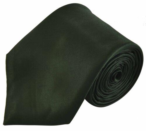 Or Handkerchief Or Cufflinks Or Full Set Mens Bottle Green Silky Satin Tie