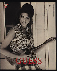 1991 Sexy American Model SHANA ZADRICK - GUESS Clothing ... Guess Jeans Ad