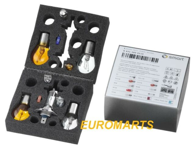 Genuine Mercedes Smart Fortwo 451 Spare Bulbs Fuses Set In A Box