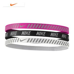4f5146fcf80c5 NIKE Metallic Hairbands 3 Pack Women s Size One Size Fits Most ...