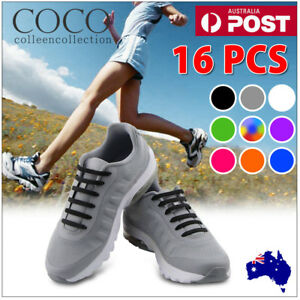 No-Tie-Elastic-Silicone-Shoe-Laces-Shoelaces-Sneakers-Runners-Child-Adult-Unisex