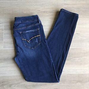 Bullhead-Black-Blue-Jeans-Skinny-Stretch-Women-Jr-Size-11-Distressed
