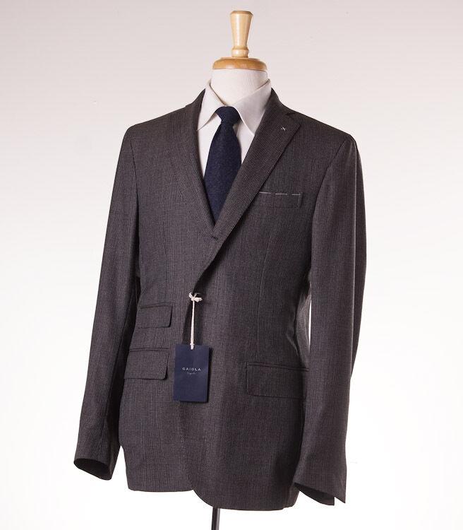 NWT  GAIOLA NAPOLI Deconstructed Woven Wool Sport Coat Slim 42 R (Eu 52)