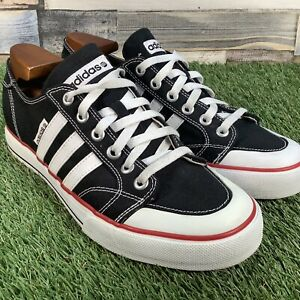 UK10-Adidas-Clemente-Stripe-Lo-Canvas-Low-Top-Trainers-Retro-Skate-Style