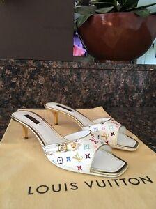 6884814c24be Authentic LOUIS VUITTON LV Women s Sandals Shoes Monogram Multicolor ...