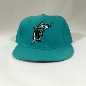 differently 199ab 4bc25 Vintage THROWBACK Florida Marlins ALL TEAL New Era Fitted ...