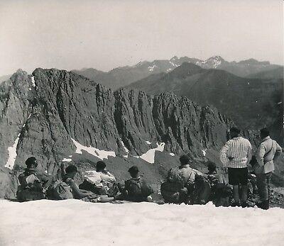 Agressief Htes PyrÉnÉes C.1950 -randonneurs Brèche De Roland Les Sarradets Panorama-nv 347 Met De Beste Service