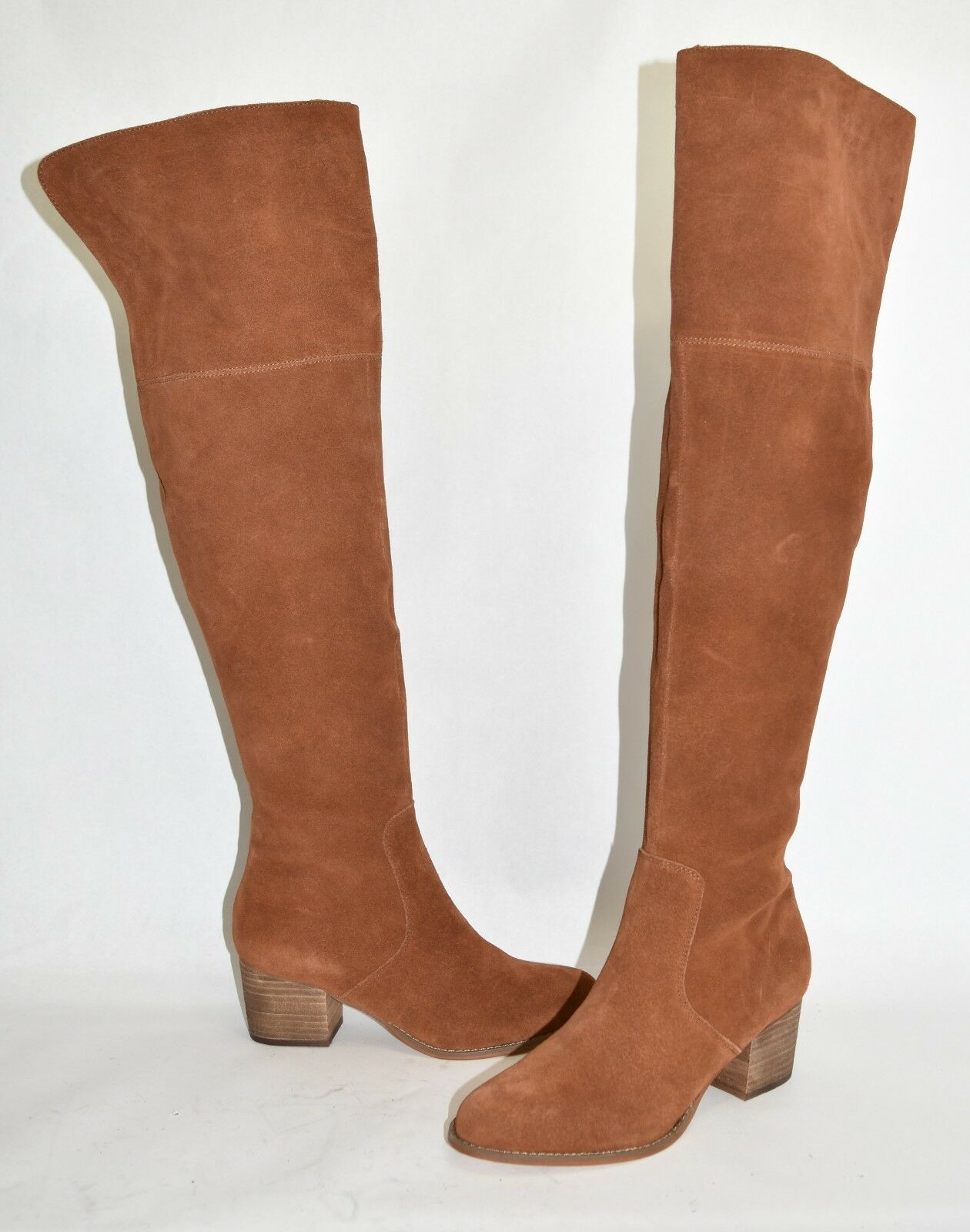 300 CORSO COMO HOBOKEN OVER THE KNEE OTK BOOTS SUEDE BROWN 8 (M12)