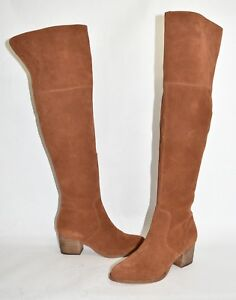 837e7028206  300 CORSO COMO HOBOKEN OVER THE KNEE OTK BOOTS SUEDE BROWN 8 (M12 ...