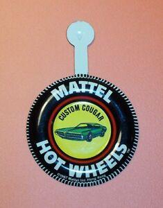 1968 Hot Wheels Redline Button Badge Custom Cougar HW1327