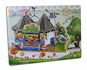Frutas-Verduras-descargar-de-pie-Casa-3d-Juguete-Puzzle-Juego-26-partes-NUEVO
