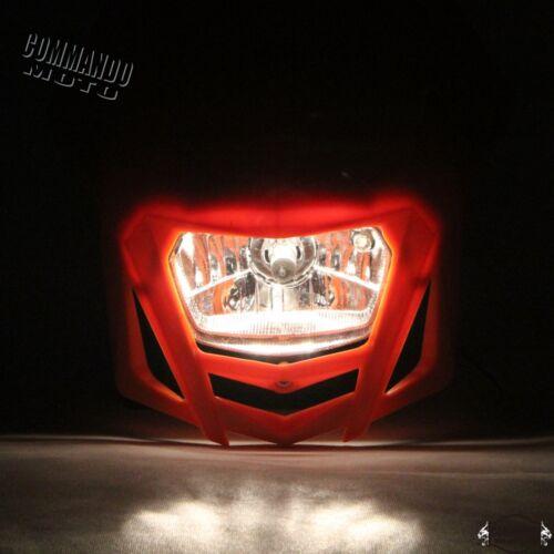 Motorbike MX Dirt Bike Off Road Headlight Head Lamp Fairing For Kawasaki KLX250R