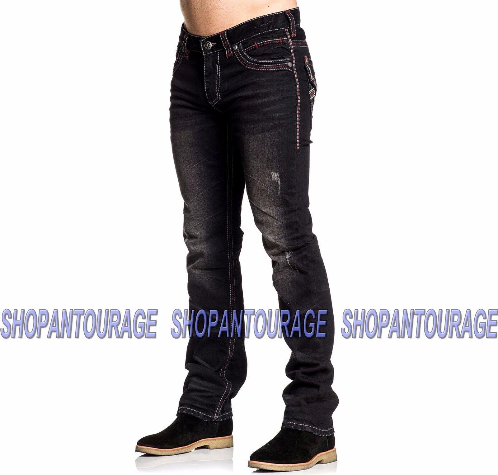 Affliction Ace V Springfield 110SS186  Nuevo Delgado pierna recta Denim Jeans para hombres  nueva gama alta exclusiva