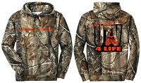 Realtree Camo Camouflage Hoodie Sweat Shirt Utv 4 Life Blaze Orange Just Ride