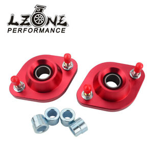 Red-Pillowball-Front-Camber-Plates-Strut-Mount-For-BMW-E36-E46-Z3-Coilover-Kits