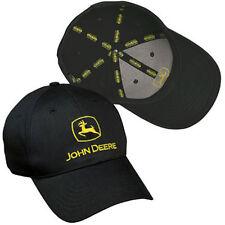 JOHN DEERE BLACK *CONSTRUCTION* Trademark LOGO Twill CAP HAT *BRAND NEW!*